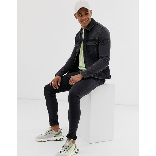 Veste en jean ajustée style western - délavé - ASOS DESIGN - Modalova