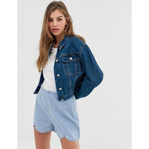 Veste en jean coupe courte - foncé délavé - ASOS DESIGN - Modalova