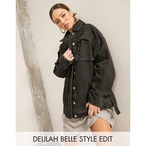 Veste en jean oversize avec ceinture - ASOS DESIGN - Modalova