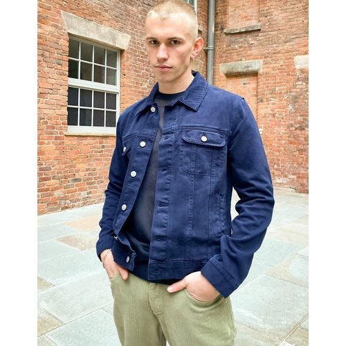 Veste en jean style western - Bleu marine - ASOS DESIGN - Modalova