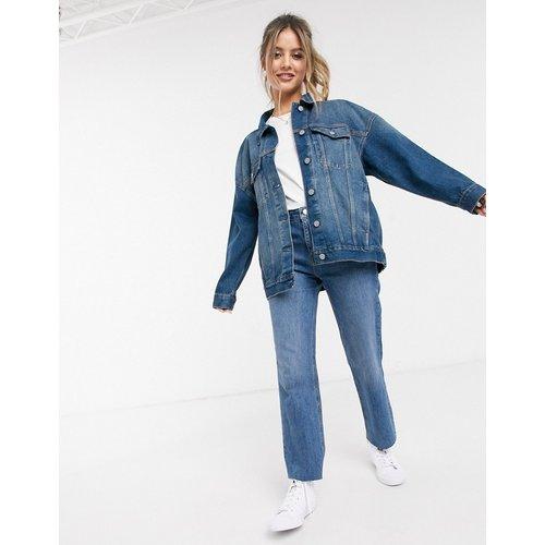 Veste oversize en jean - délavé moyen - ASOS DESIGN - Modalova
