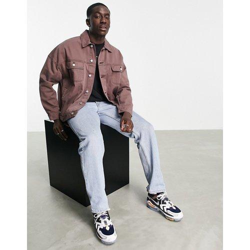Veste oversize style western en jean - délavé - ASOS DESIGN - Modalova