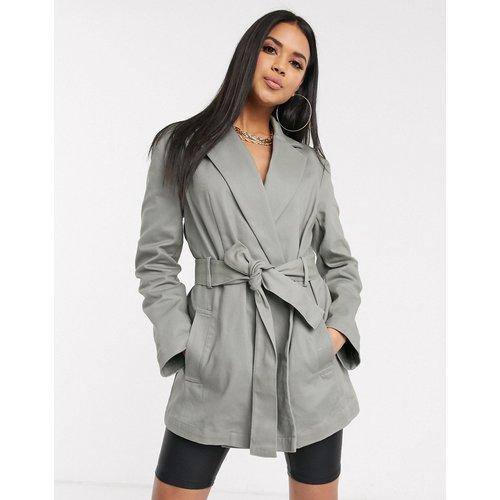 Veste style chemise en toile à ceinture - Sauge - ASOS DESIGN - Modalova