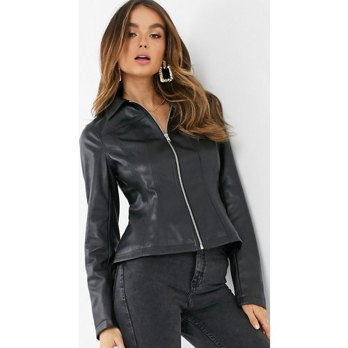 Veste style corset aspect cuir - ASOS DESIGN - Modalova