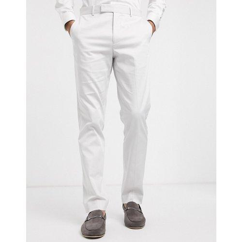 Wedding - Pantalon de costume ajusté en coton stretch - clair - ASOS DESIGN - Modalova