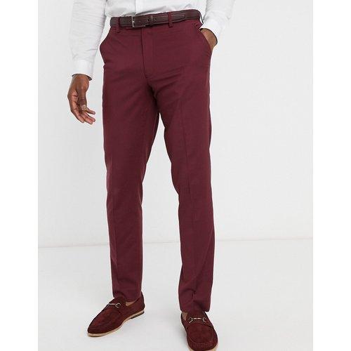 Wedding - Pantalon de costume slim - Bordeaux - ASOS DESIGN - Modalova
