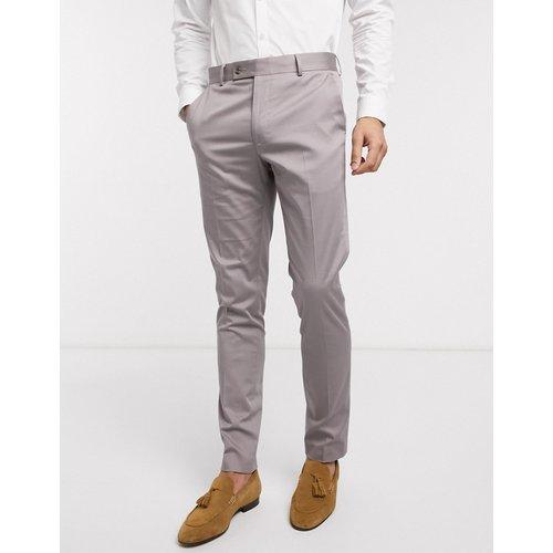 Wedding - Pantalon de costume slim en coton stretch - ASOS DESIGN - Modalova