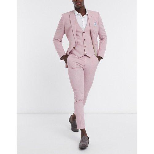Wedding - Pantalon de costume ultra slim - effet hachuré - ASOS DESIGN - Modalova