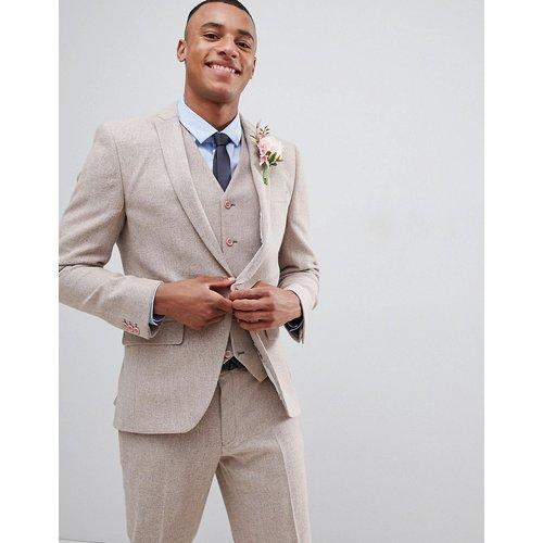 Wedding - Veste de costume ajustée à chevrons - sombre - ASOS DESIGN - Modalova