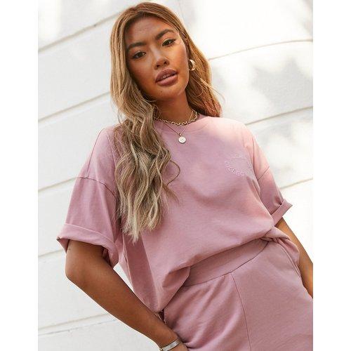 ASOS DESIGN - Weekend Collective - T-shirt d'ensemble oversize avec logo brodé - délavé - ASOS Weekend Collective - Modalova