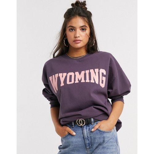Wyoming - Sweat-shirt oversize avec imprimé - Délavé - ASOS DESIGN - Modalova