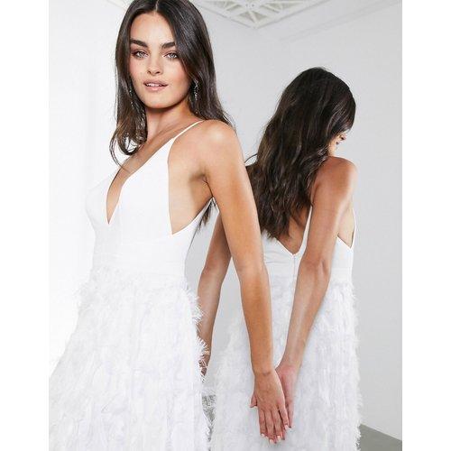 Afira- Robe de mariée avec jupe à effet plumes - ASOS EDITION - Modalova
