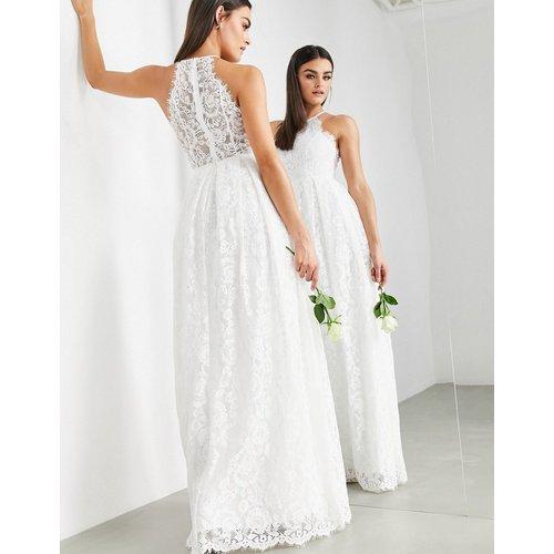 Amalie - Robe de mariée dos nu longue en dentelle - ASOS EDITION - Modalova