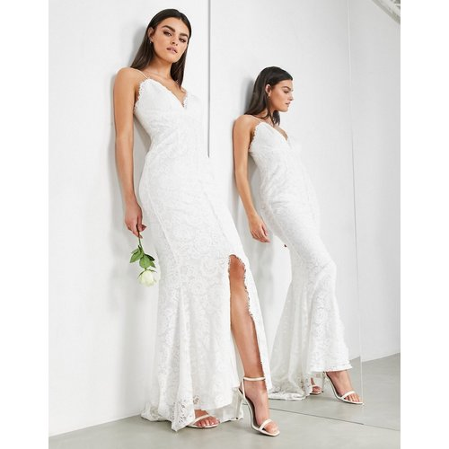 Angelina - Robe de mariée caraco en dentelle - ASOS EDITION - Modalova
