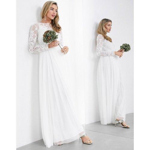 Ayla - Robe longue de mariage avec corsage brodé - ASOS EDITION - Modalova