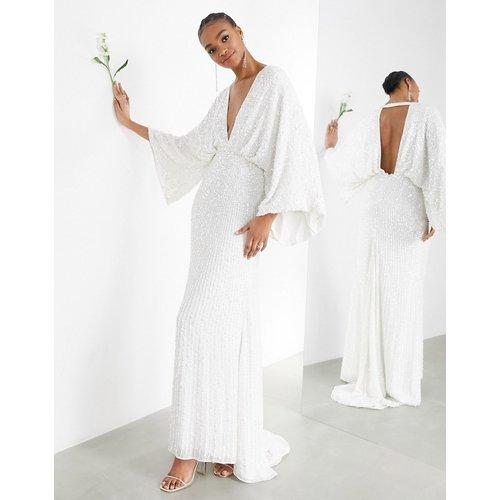 Ciara - Robe de mariée à sequins et manches kimono - ASOS EDITION - Modalova