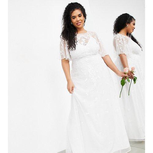 Curve - Annie - Robe de mariée à manches évasées et fleurs brodées - ASOS EDITION - Modalova