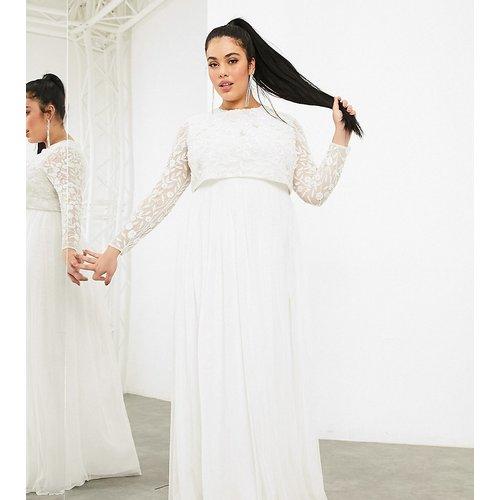 Curve - Fleur - Robe de mariage avec crop top ornementé - ASOS EDITION - Modalova