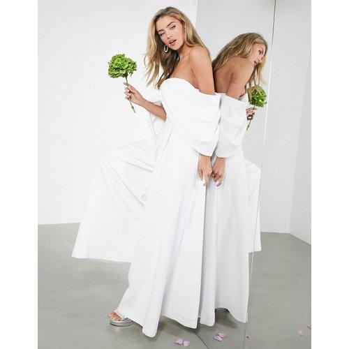 Erin - Combinaison de mariage drapée à épaules dénudées - ASOS EDITION - Modalova