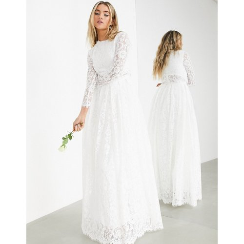 Grace - Robe de mariage avec crop top en dentelle - ASOS EDITION - Modalova