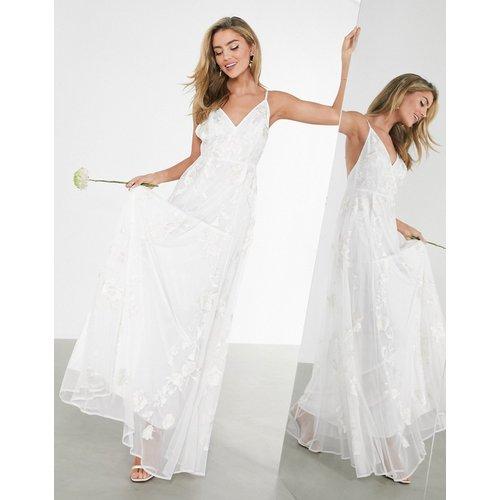 Isly- Robe de mariée à fines bretelles et broderies - ASOS EDITION - Modalova