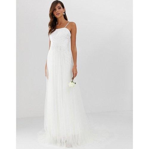 Jolie robe de mariée en tulle avec superposition en dentelle - ASOS EDITION - Modalova