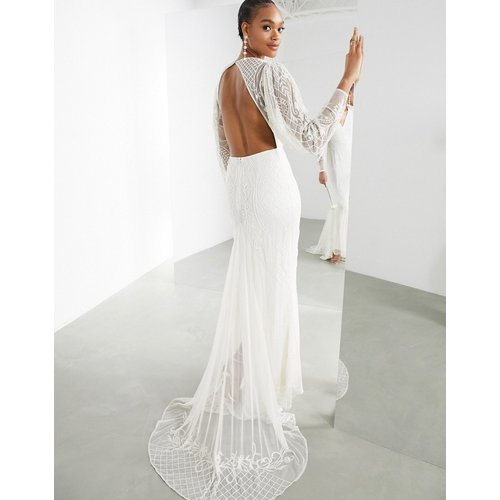 Lucy - Robe de mariée avec perles - ASOS EDITION - Modalova