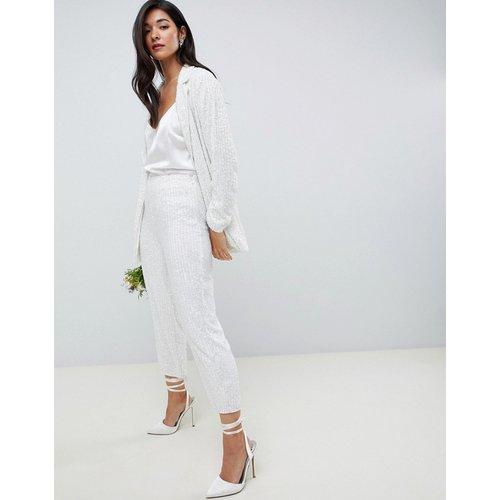 ASOS EDITION - Pantalon orné-Blanc - ASOS EDITION - Modalova