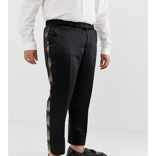 Plus - Pantalon de costume slim à sequins - Gris et or - ASOS EDITION - Modalova