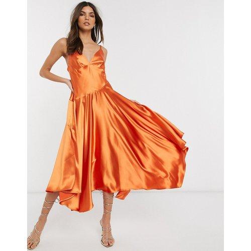 Robe caraco mi-longue à coutures apparentes - ASOS EDITION - Modalova