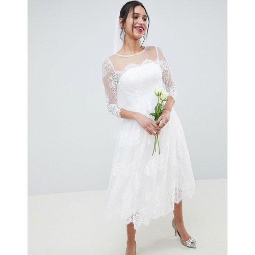 Robe de mariage et de bal de promo mi-longue en dentelle à manches longues - ASOS EDITION - Modalova