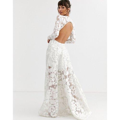 Robe de mariée à dos ouvert avec broderie fleurie - ASOS EDITION - Modalova