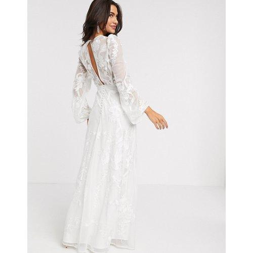Robe de mariée brodée avec manches ballon - ASOS EDITION - Modalova