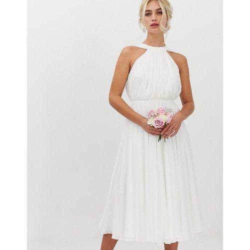Robe de mariée mi-longue avec dos nu en V - ASOS EDITION - Modalova