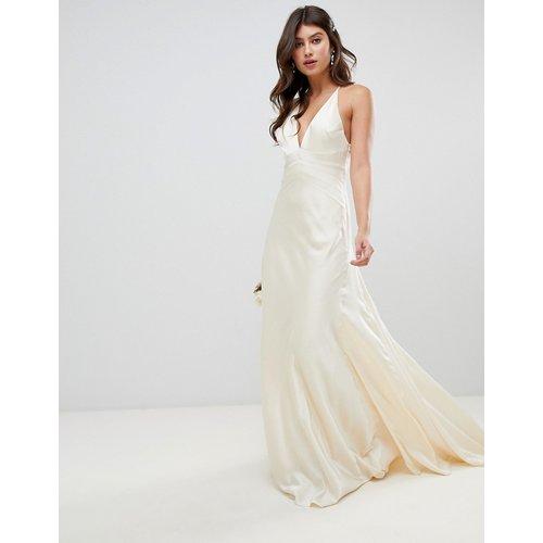 Robe de mariée style sirène en satin avec empiècements - ASOS EDITION - Modalova