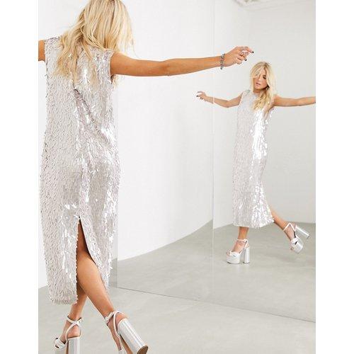 Robe droite mi-longue sans manches à sequins linéaires - ASOS EDITION - Modalova