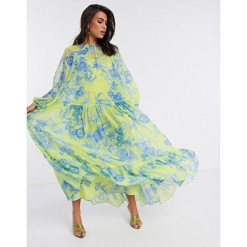 Robe longue oversize à imprimé phénix à fleurs - ASOS EDITION - Modalova