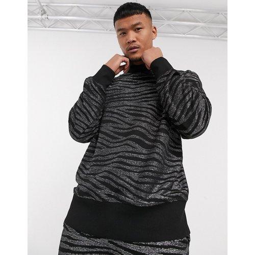 Sweat-shirt court d'ensemble coupe carrée en tissu zébré - ASOS EDITION - Modalova