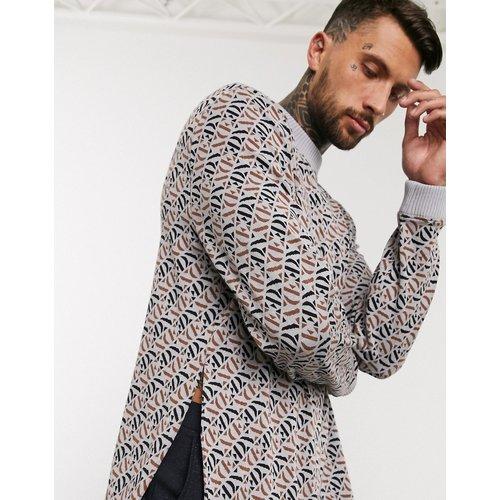 Sweat-shirt oversize en jacquard avec ourlet fendu - ASOS EDITION - Modalova