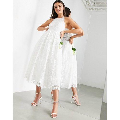 Valerie - Robe de mariée dos nu mi-longue en dentelle - ASOS EDITION - Modalova