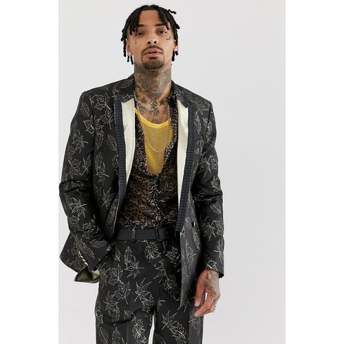 Veste de costume ajustée en jacquard à motif fleuri et doré - ASOS EDITION - Modalova