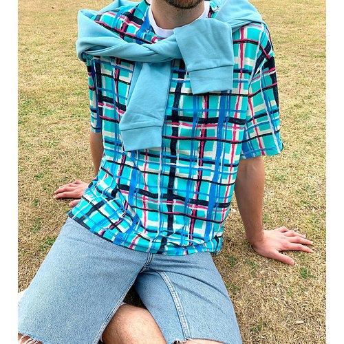 KENYA - T-shirt coupe carrée à carreaux - ASOS MADE IN - Modalova