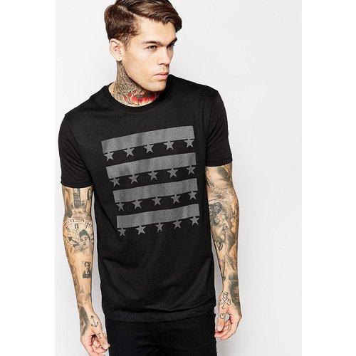 ASOS - T-shirt avec empiècement en tulle et doublure imprimée - ASOS DESIGN - Modalova