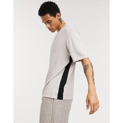 ASOS - T-shirt en maille coupe carrée à bandes latérales - ASOS WHITE - Modalova