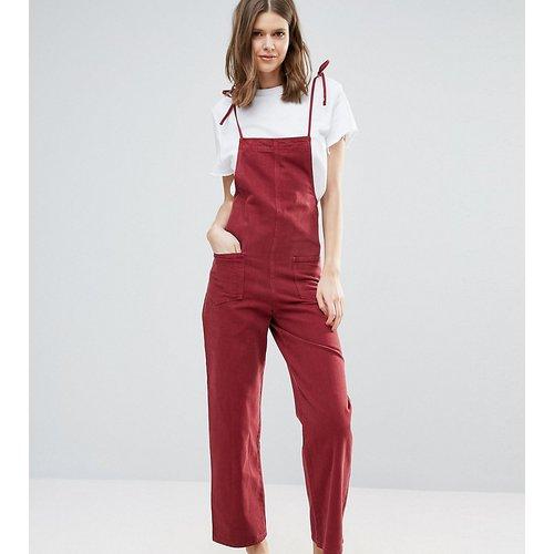 Combinaison en jean avec bretelles à nouer - Framboise - ASOS Tall - Modalova