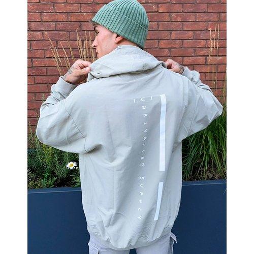 ASOS - Unrvlld Supply - Hoodie long oversize en nylon à logo - ASOS Unrvlld Supply - Modalova