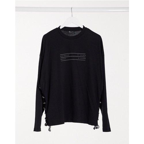 ASOS - Unrvlld Supply - T-shirt à manches longues oversize avec logo UnrvlldSupply et laçage corde - ASOS Unrvlld Supply - Modalova