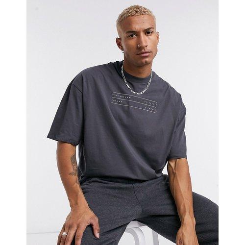 ASOS -Unrvlld Supply- T-shirt oversizeavec logoUnrvlld Supply- Noir - ASOS Unrvlld Supply - Modalova