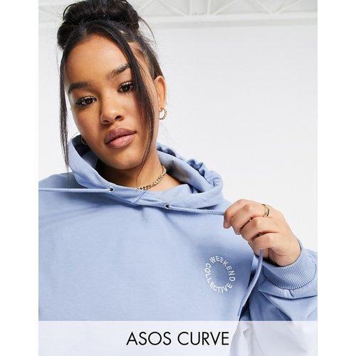 Curve - Hoodie oversize avec logo brodé - délavé - ASOS Weekend Collective - Modalova