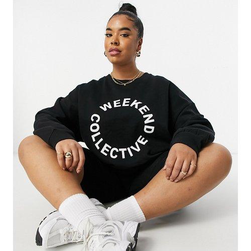 ASOS - Weekend Collective Curve - Sweat-shirt oversize avec logo - ASOS Weekend Collective - Modalova